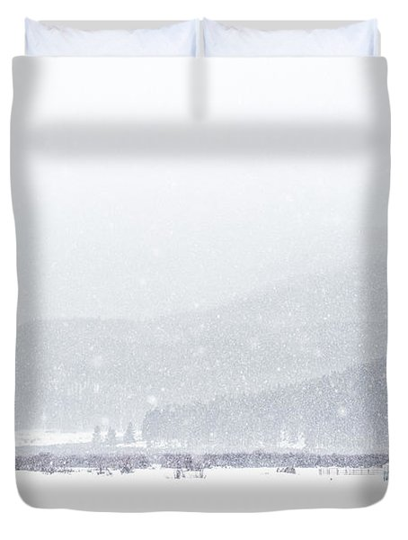 The Rise Of Winter Duvet Cover