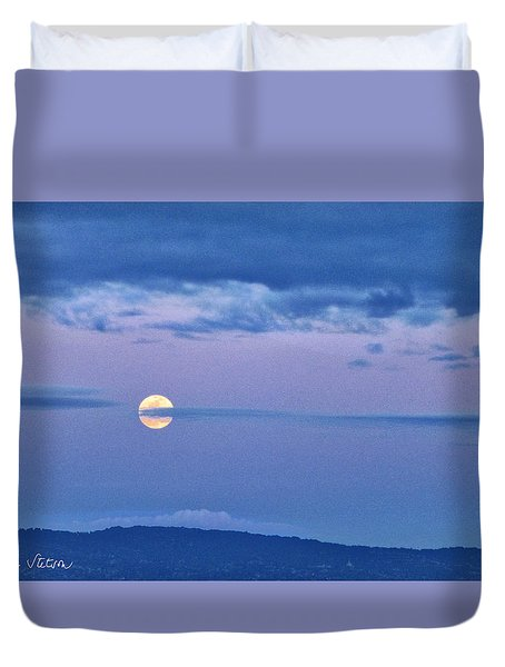The Rising Duvet Cover by Sabine Stetson