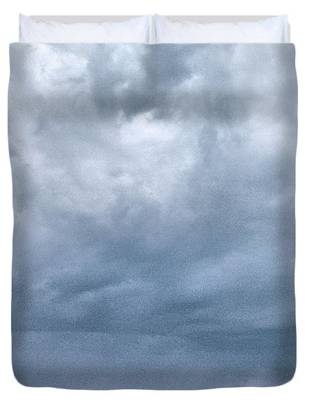 Duvet Cover featuring the photograph The Rising Storm by Jouko Lehto