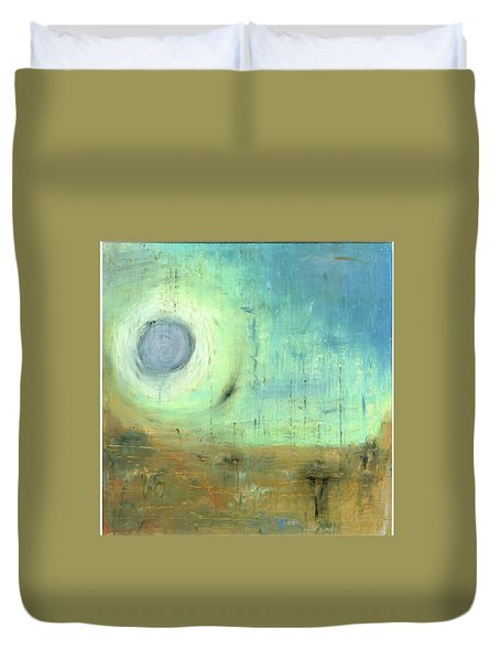 Duvet Cover featuring the painting The Rising Sun by Michal Mitak Mahgerefteh