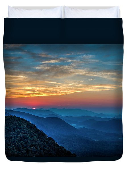 The Rising Sun Pretty Place Chapel Greenville S C Great Smoky Mountain Art Duvet Cover