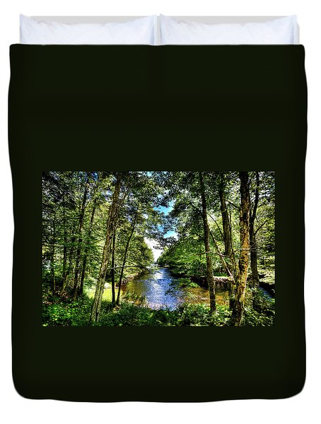 Duvet Cover featuring the photograph The River At Covewood by David Patterson