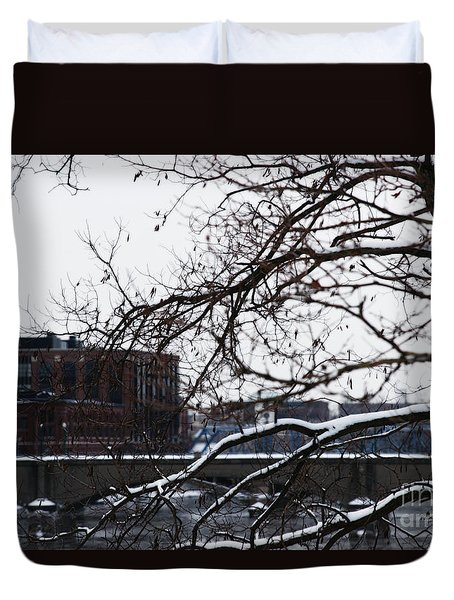 The River Divide Duvet Cover