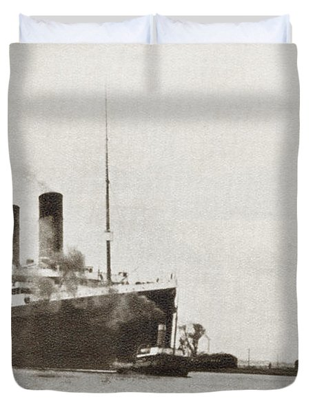The Rms Titanic Of The White Star Line Duvet Cover
