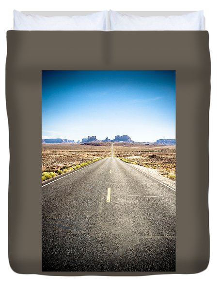 Duvet Cover featuring the photograph The Road Ahead by Jason Smith