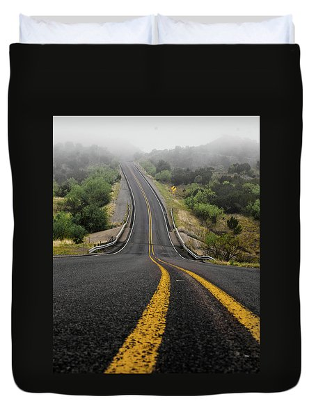 The Road Goes On Forever And The Party Never Ends Duvet Cover