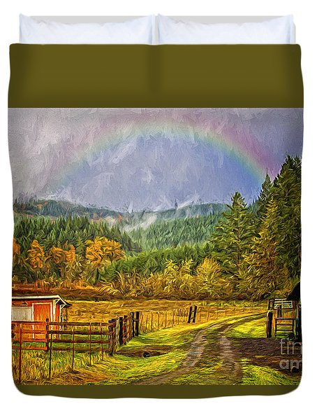 The Road Home Duvet Cover by Billie-Jo Miller