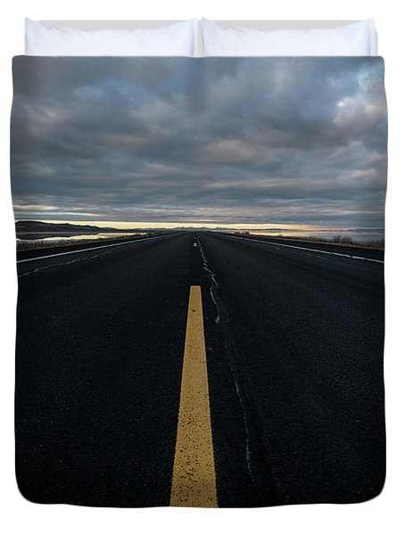 The Road Duvet Cover by Justin Johnson