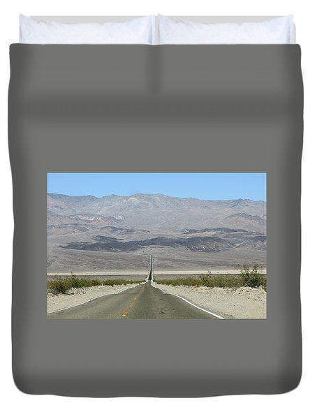 Duvet Cover featuring the photograph The Road Less Traveled by Brandy Little