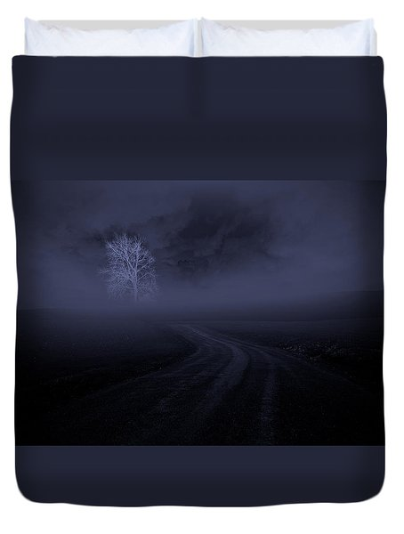 Duvet Cover featuring the photograph The Road by Robert Geary