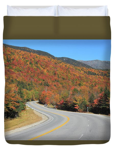 The Road Through Pinkham Notch Duvet Cover