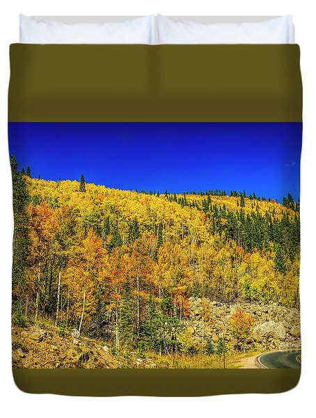 The Road To Autumn Duvet Cover