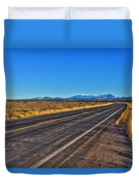 The Road To Flagstaff Duvet Cover