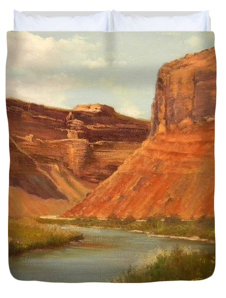 The Road To Moab Duvet Cover
