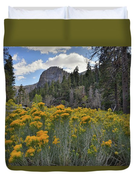 The Road To Mt. Charleston Natural Area Duvet Cover