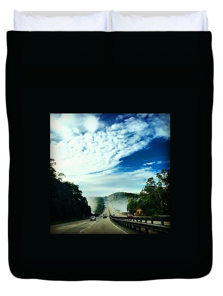The Road To Newcastle Duvet Cover
