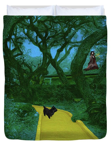 The Road To Oz Duvet Cover