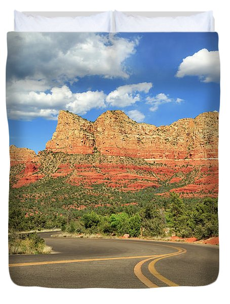 The Road To Sedona Duvet Cover