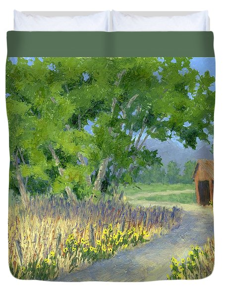 The Road To The Back Field Duvet Cover