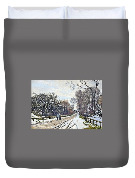 The Road To The Farm Of St. Simeon Duvet Cover by Monet