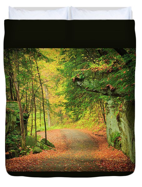 The Road To The Mill  Duvet Cover