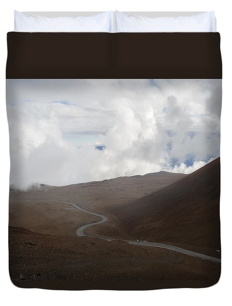 Duvet Cover featuring the photograph The Road To The Snow Goddess by Ryan Manuel