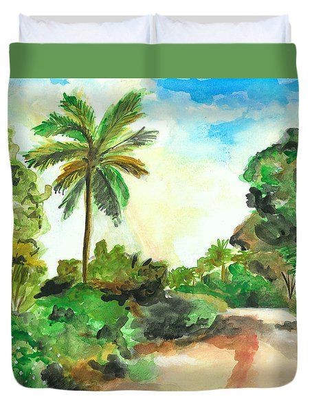 The Road To Tiwi Duvet Cover