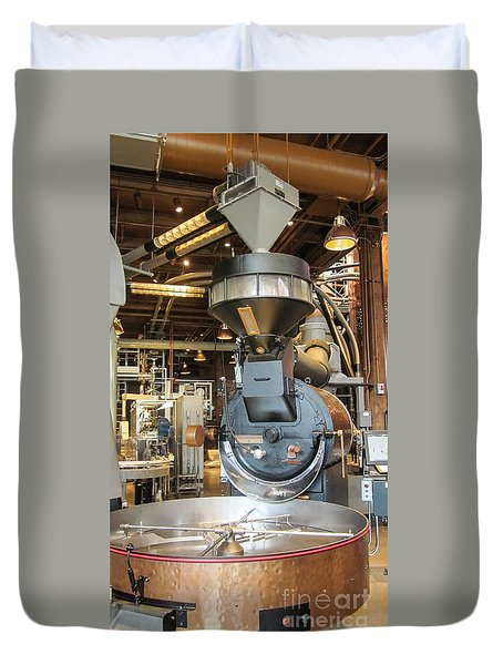 Duvet Cover featuring the photograph The Roastery by Suzanne Luft