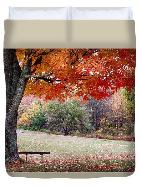 The Robert Frost Farm Duvet Cover by Jeff Folger