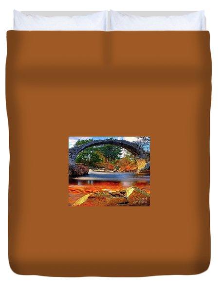 The Rock Bridge Duvet Cover by Rod Jellison