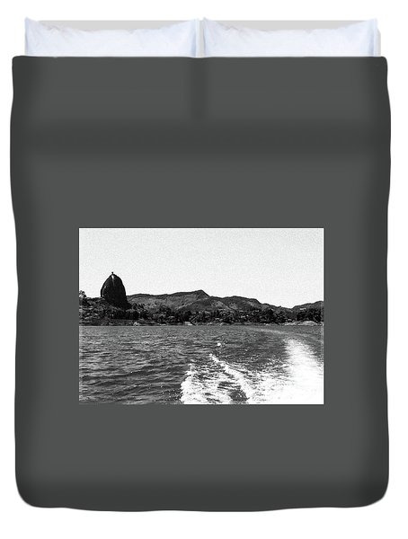 The Rock Of Guatape Duvet Cover