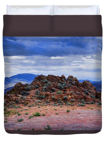 The Rock Stops Here Duvet Cover by B Wayne Mullins