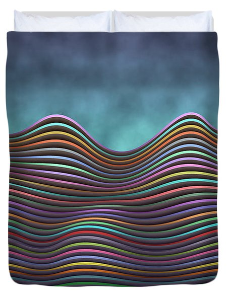 The Rolling Hills Of Subtle Differences Duvet Cover