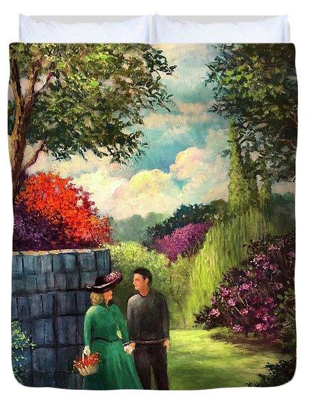 The Romantic Garden Duvet Cover
