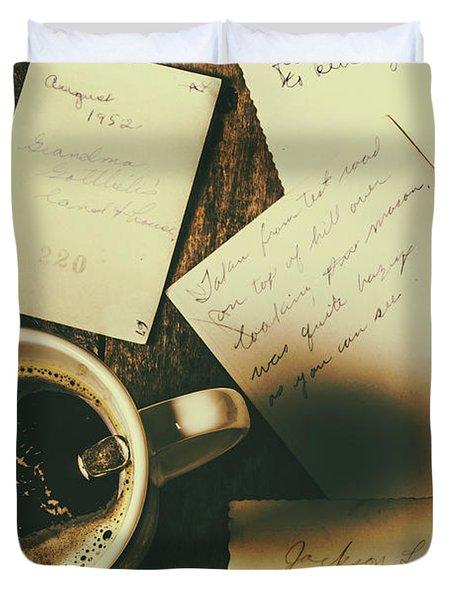 The Romantic Writers Loft Duvet Cover