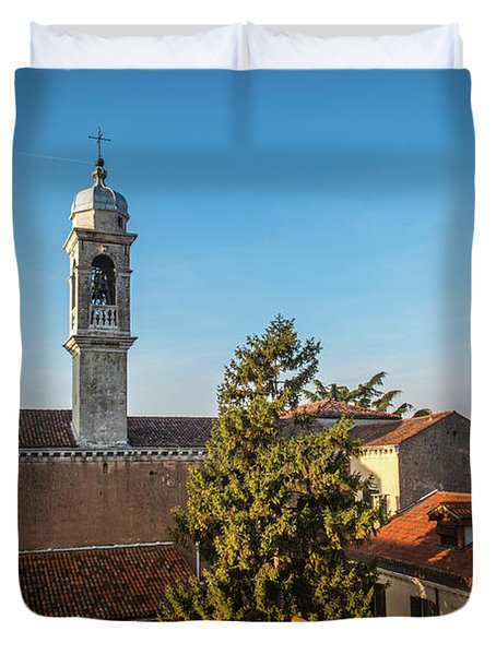 The Roofs Of Venice Duvet Cover