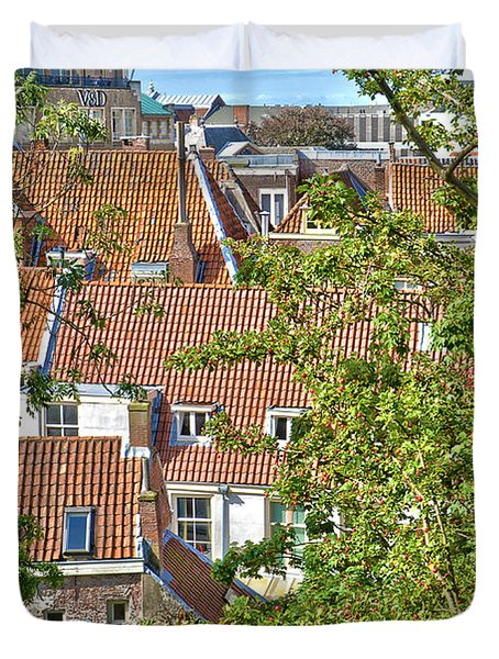 The Rooftops Of Leiden Duvet Cover