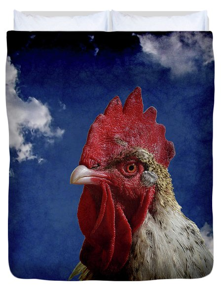 The Rooster Duvet Cover by Ernie Echols
