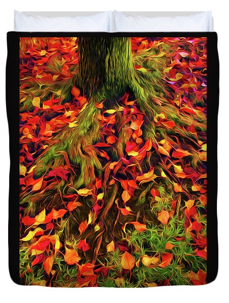 The Root Of Fall Duvet Cover