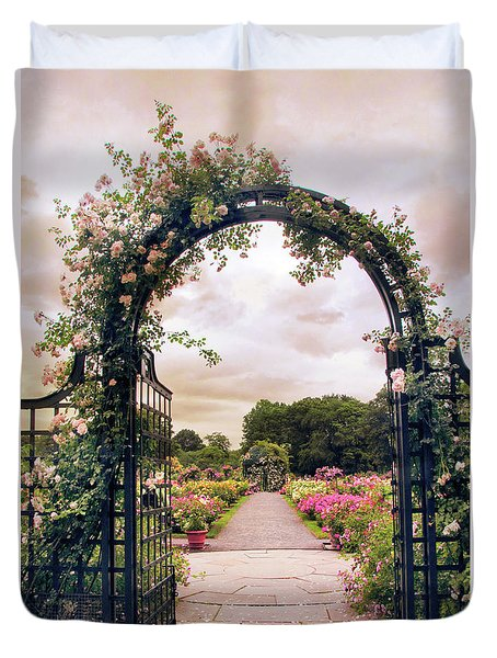 The Rose Allee Duvet Cover