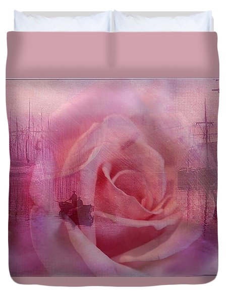 The Rose And The Sea Duvet Cover by Wallaroo Images