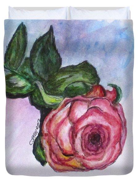 The Rose Duvet Cover by Clyde J Kell