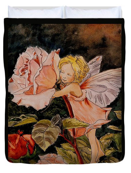 The Rose Fairy After Cicely Mary Barker Duvet Cover