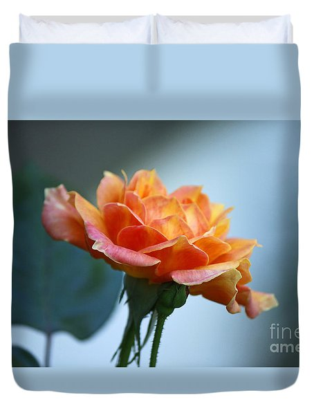 The Rose From Side Duvet Cover