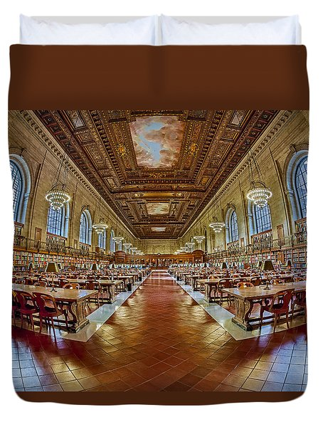 The Rose Main Reading Room Nypl Duvet Cover