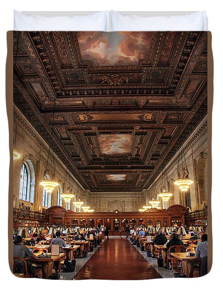 Duvet Cover featuring the photograph The Rose Reading Room II by Jessica Jenney