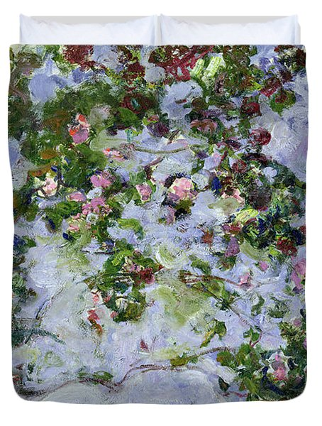 The Roses Duvet Cover by Claude Monet