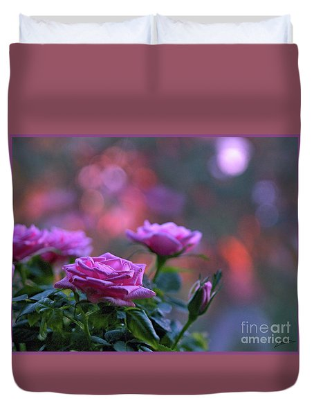 Duvet Cover featuring the photograph The Roses by Lance Sheridan-Peel