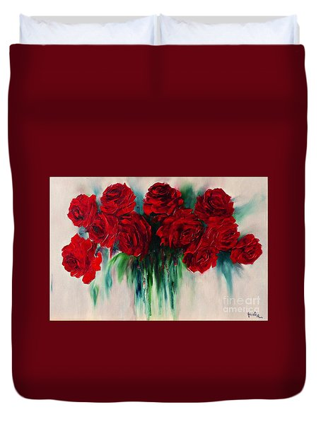 The Roses Of My Summer Duvet Cover by AmaS Art