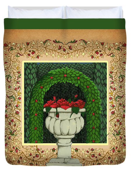 The Roses Urn Duvet Cover